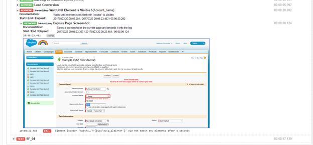Salesforce Test Automation Framework