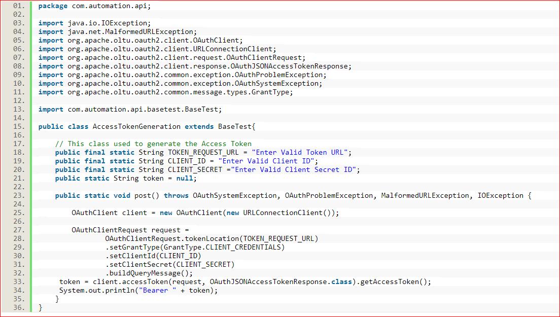 API Automation