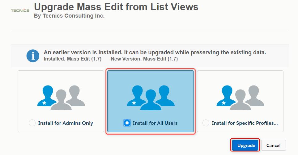 Salesforce Mass Edit