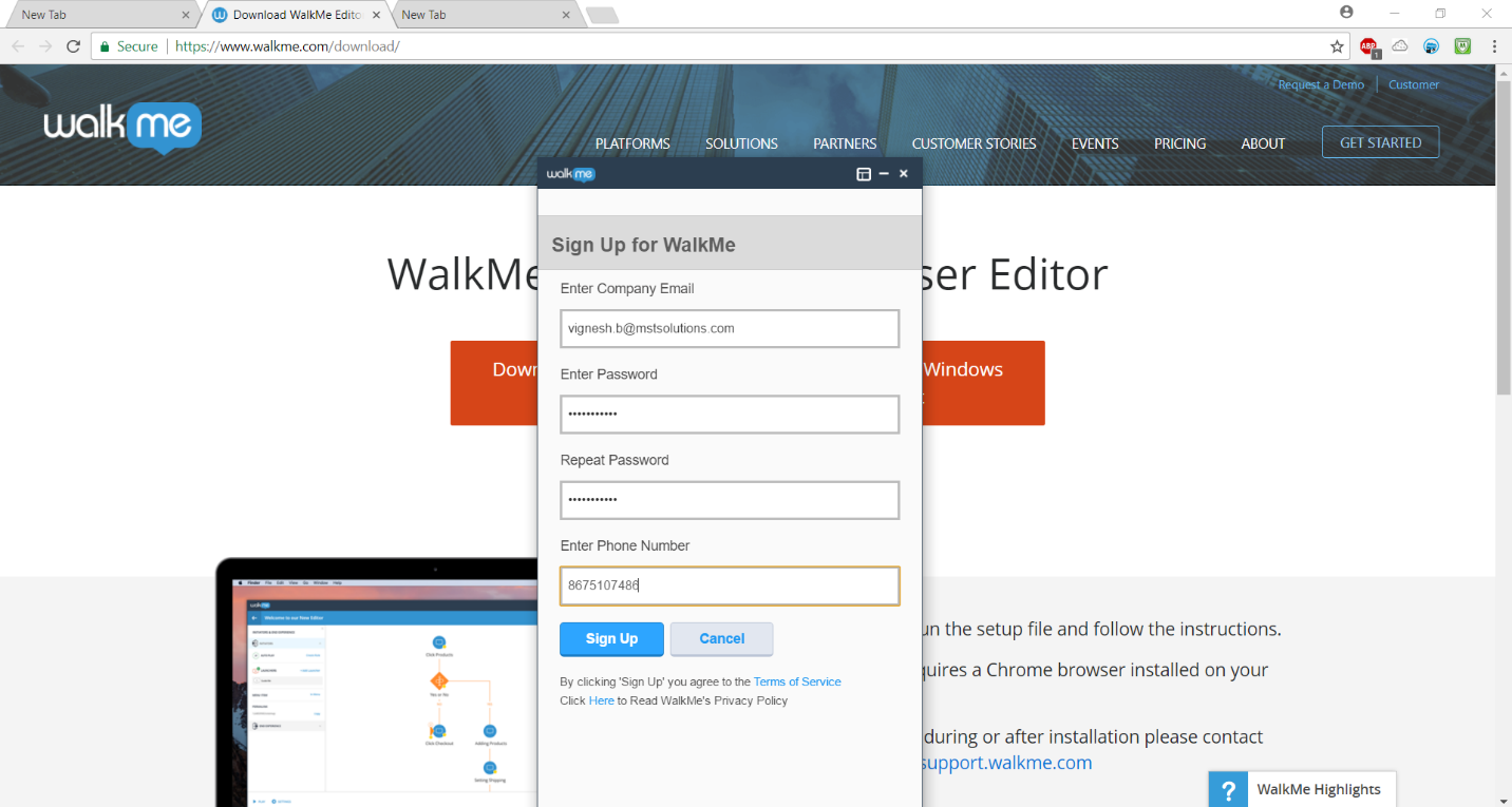 Walk-me for Salesforce