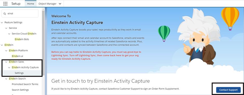 Salesforce Einstein Activity Capture