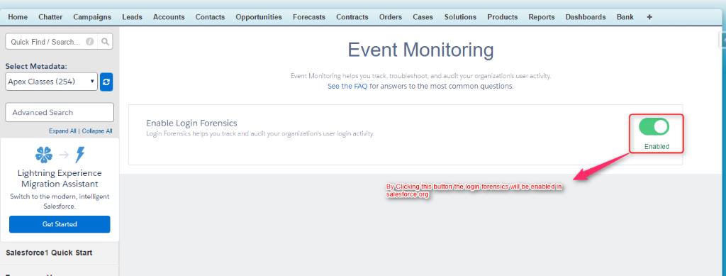 monitoring login activity
