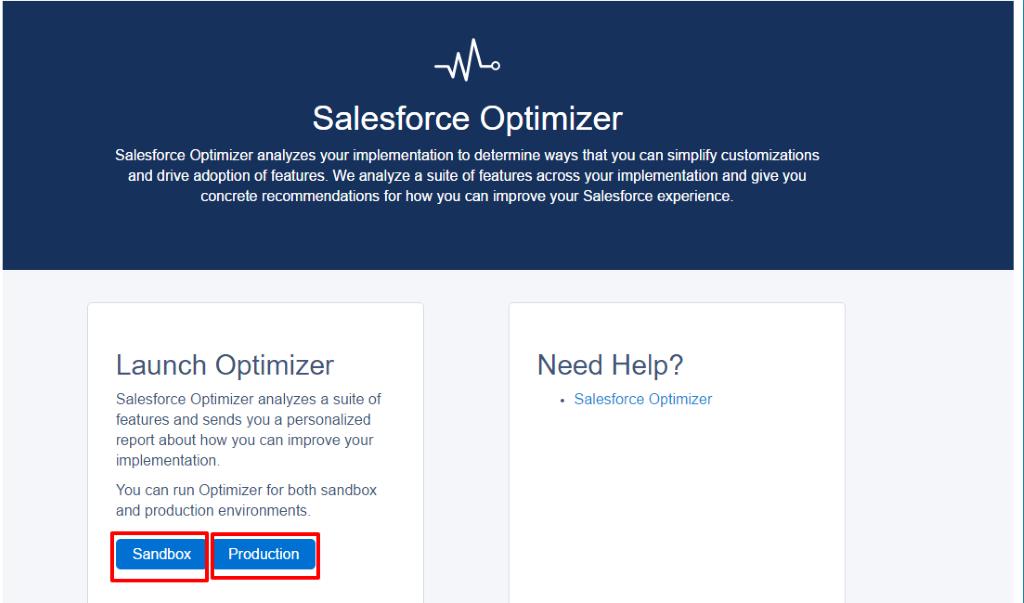 salesforce optmizer