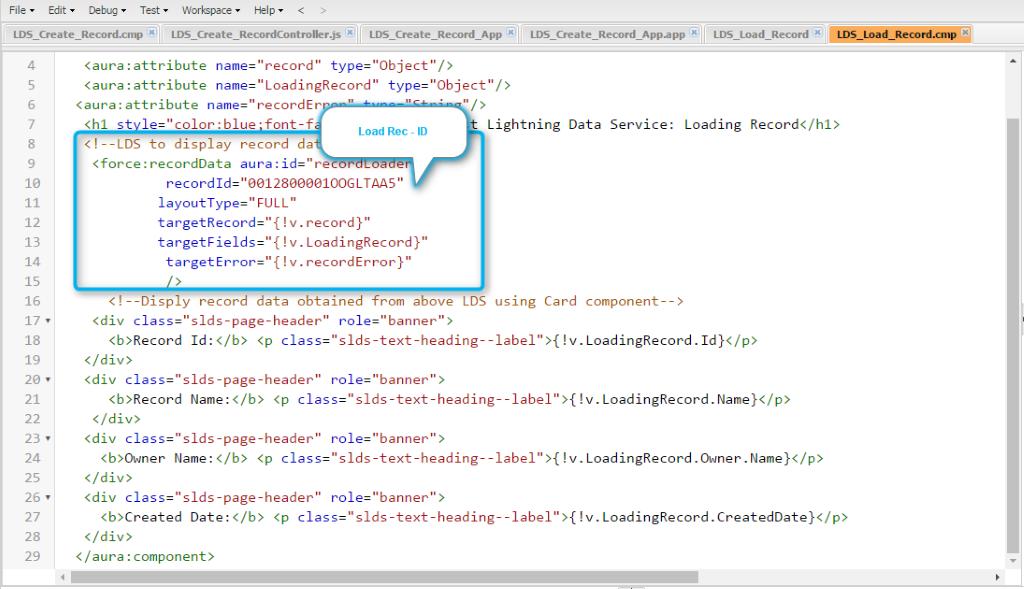 lightning data service salesforce