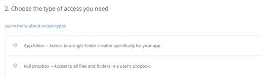 dropbox access