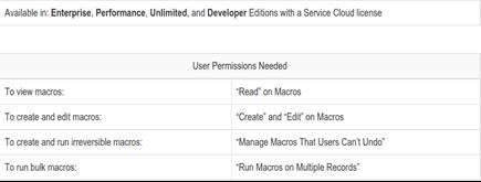 service cloud macros