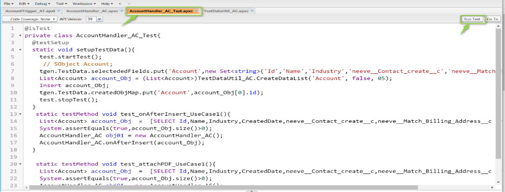 how to create test class in salesforce