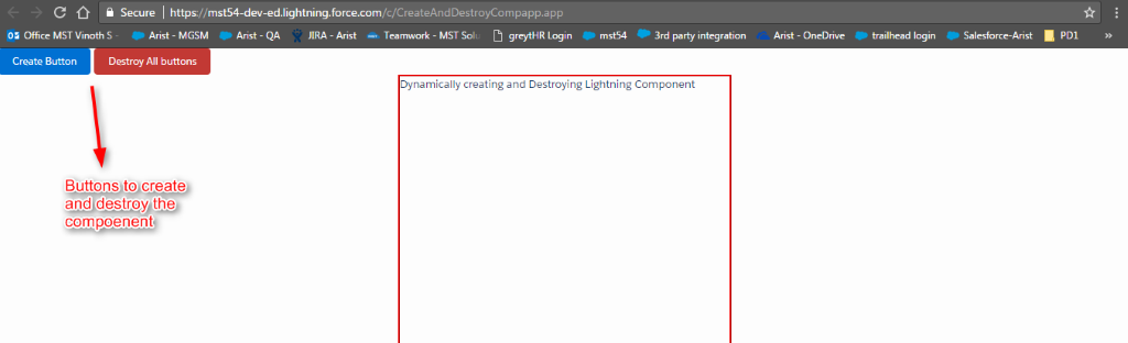 Creating dynamic components in salesforce