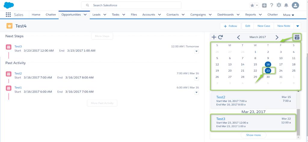salesforce calendar view