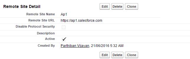 post data to salesforce