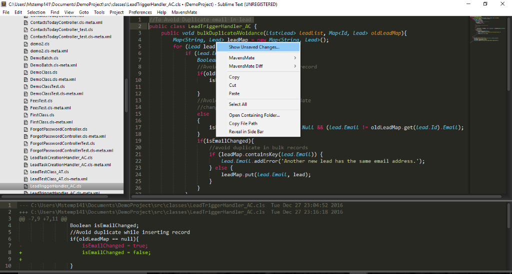 Mavensmate Sublime Text 3