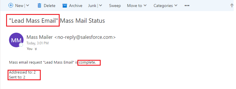 mass email in salesforce
