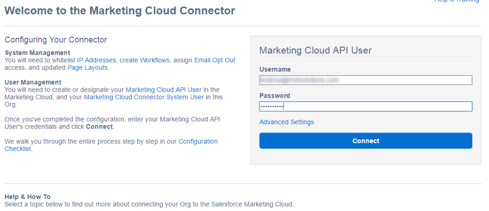 Marketing Cloud Connector with Salesforce Integration