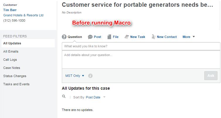 salesforce macros classic