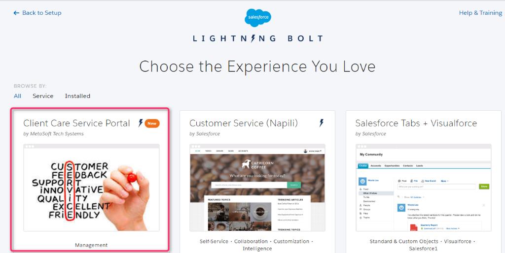 lightning bolt solutions Salesforce
