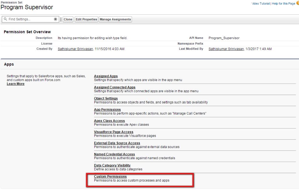 custom permissions in salesforce
