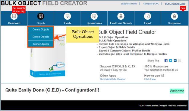 bulk object field creator