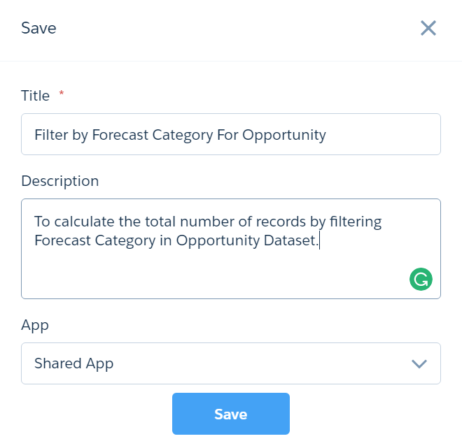cross dataset filtering