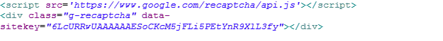 web to case recaptcha